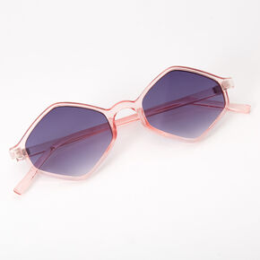 Hexagon Sunglasses - Pink,