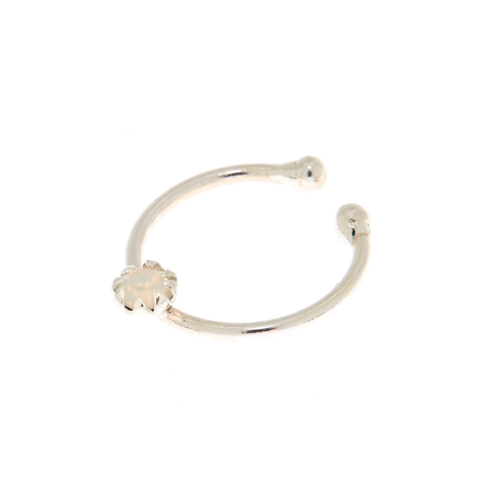 [Sponsored]Claire's Girl's Sterling Silver Swarovski© Elements Faux Nose Ring k08G4c