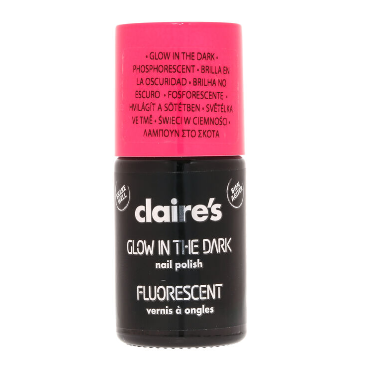 Vernis à ongles rose phosphorescent,