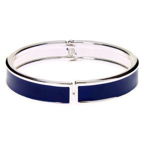 Silver Hinge Cuff Bracelet - Navy,