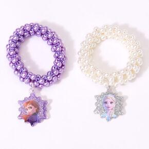 ©Disney Frozen 2 Faux Pearl stretch Bracelet – 2 Pack,