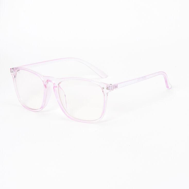 Transparent Retro Clear Lens Frames - Violet,
