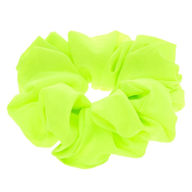 Giant Hair Scrunchie - Neon Green,