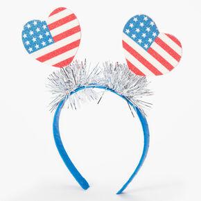 Fourth of July American Flag Deely Bopper Headband - Blue,