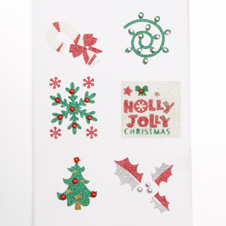 Holly Jolly Christmas Body Stickers,