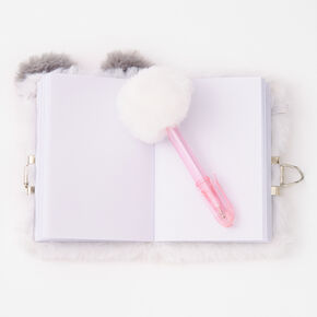Claire's Club Furry Panda Mini Lock Diary,