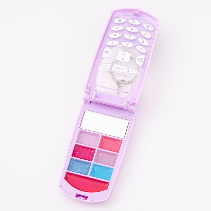 Love Flip Phone Bling Lip Gloss Set - Purple,