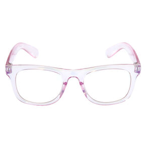 Claire's Club Iridescent Retro Clear Lens Frames,