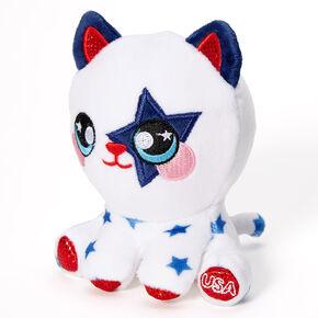 USA Patriotic Cat Plush Toy,