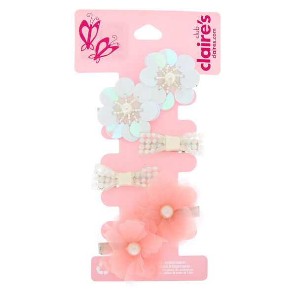 Claire's - club floral pearl hair clips - 1