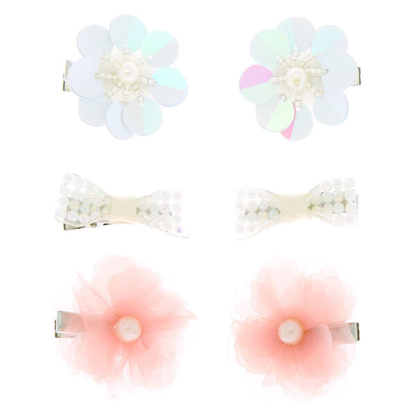 Claire's - club floral pearl hair clips - 2