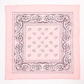 Bandeau bandana motif cachemire - Rose pâle,