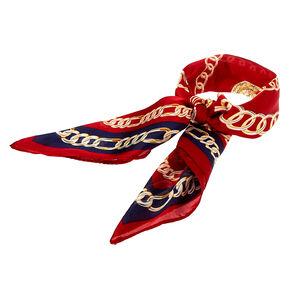 Bandeau bandana noué à imprimé chaîne - Bordeaux,