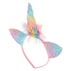 Claire's Club Ombre Glitter Unicorn Headband,