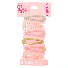 Claire's Club Ballerina Snap Hair Clips - 6 Pack,
