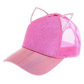 338bf5db0bc Holographic Glitter Cat Ears Baseball Cap