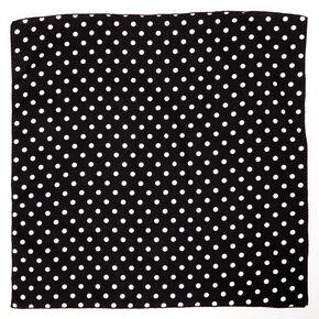 Polka Dot Bandana Headwrap - Black,