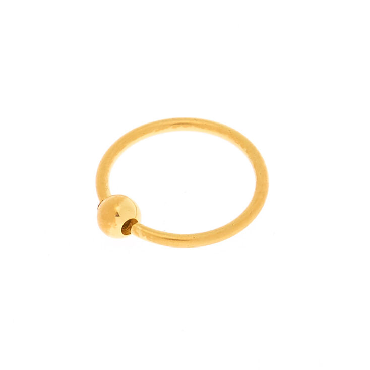 18ct Gold Plated 20g Ball Nose Ring