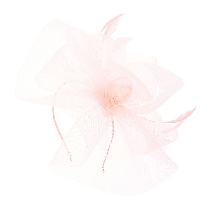 Large Blush Pink Swirl Fascinator,