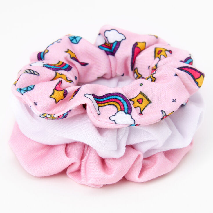 Claire's Club Unicorn and Ice Cream Hair Scrunchies - 3 Pack,