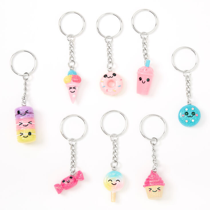 Best Friends Mixed Sweet Treats Keychains - 8 Pack,