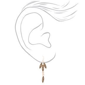 Rose Gold Leaf Jewellery Set - Grey, 2 Pack,