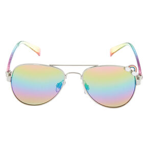 aaf5591755 Claire s Club Aviator Sunglasses - Rainbow