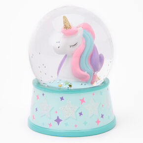 Rainbow Unicorn Mini Snowglobe - Mint,