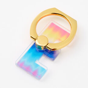 Ombre Initial Ring Stand - E,