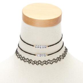 Dream & Love Choker Necklaces - Black,