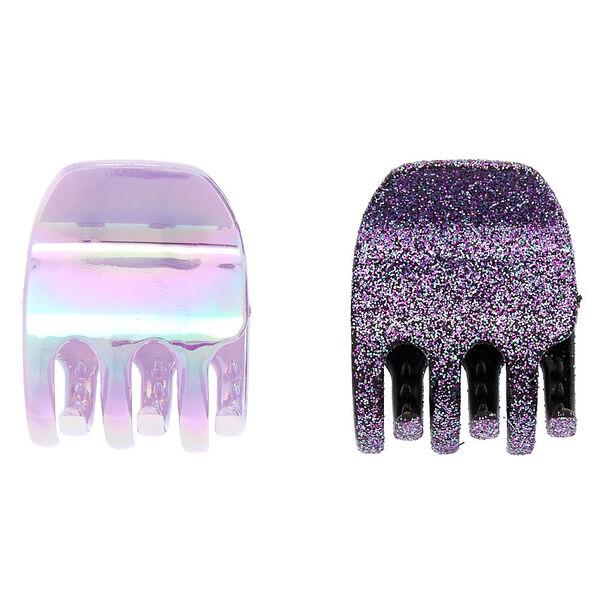 Claire's - mini galaxy glitter hair claws - 2