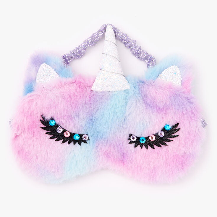Furry Ombre Unicorn Sleeping Mask,
