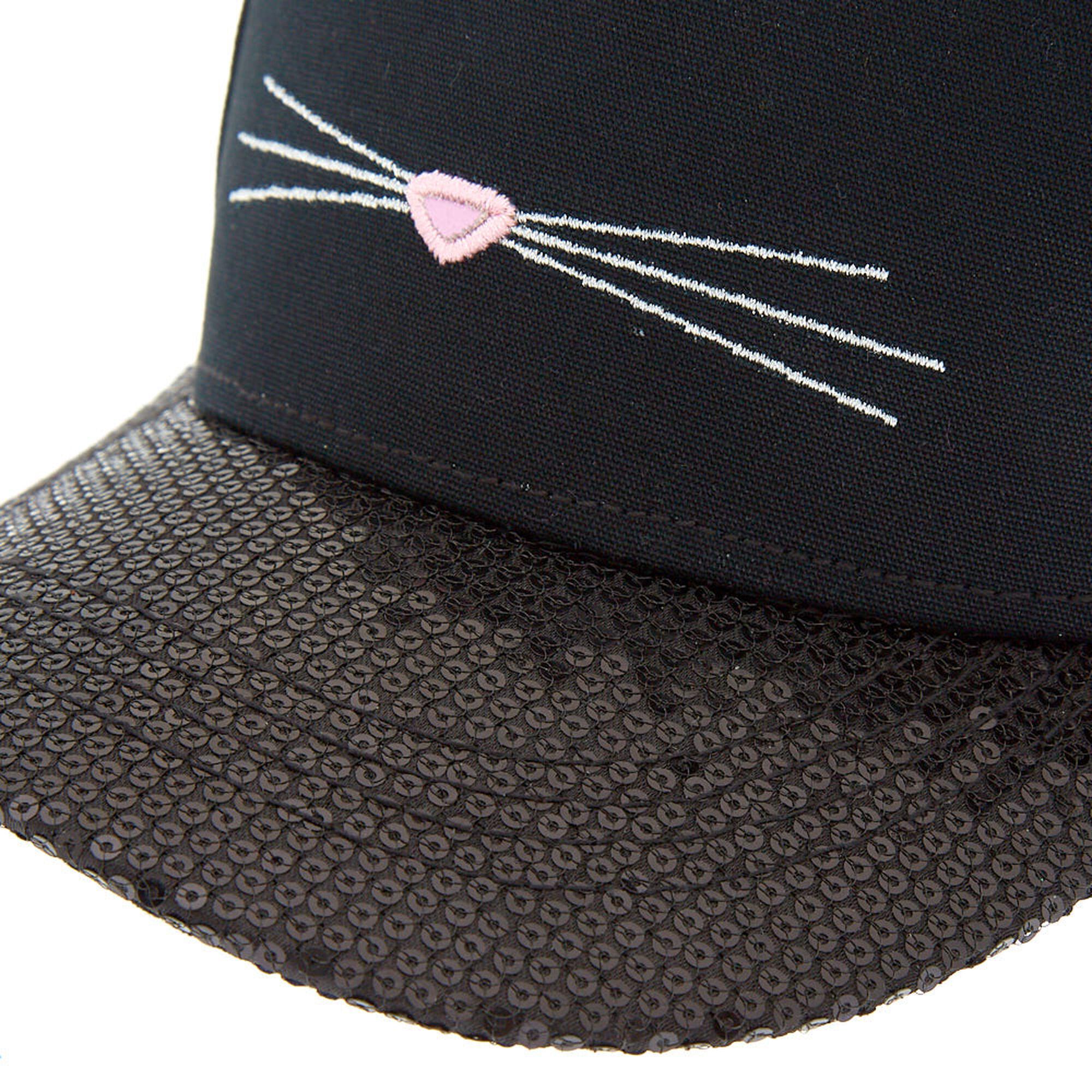 682d70804e Sequin Cat Baseball Cap - Black | Claire's US