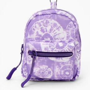 Purple Tie Dye Mini Backpack Keychain,