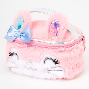 Plush Bunny Makeup Bag - Pink,