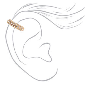 Manchette d'oreille tubulaire ornementée couleur dorée,