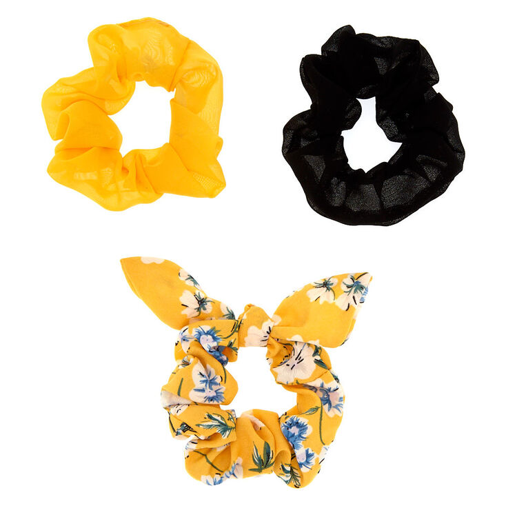 Floral Tie Scrunchies - Yellow 2f8a973a134