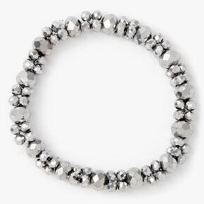 Bracelet élastique perlé à facettes - Couleur hématite,