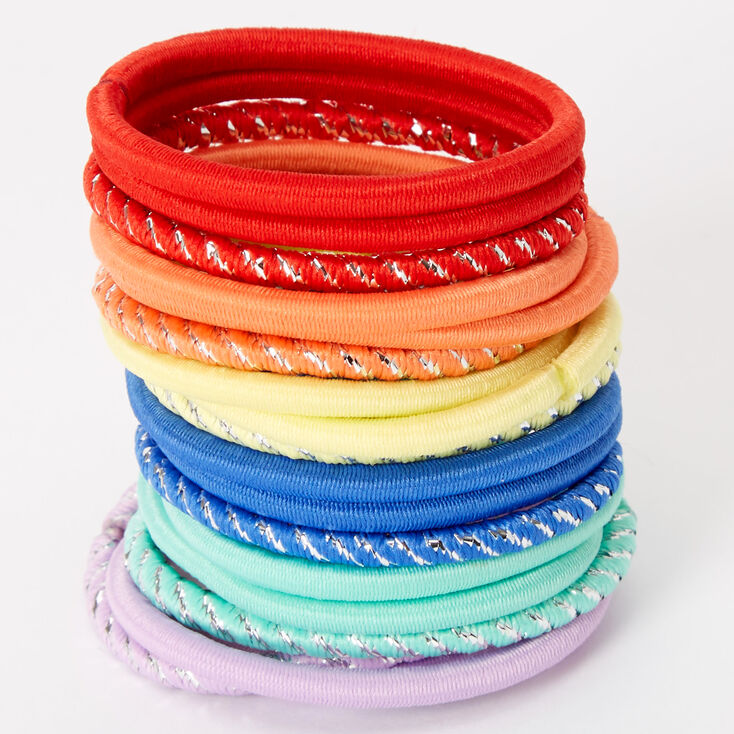 Claire's Club Summer Pastel Hair Ties - 18 Pack,