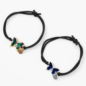 Best Friends Butterfly Mood Adjustable Cord Bracelets - 2 Pack,