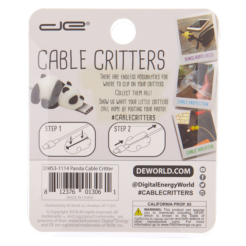 Panda Cable Critter White | Claire's