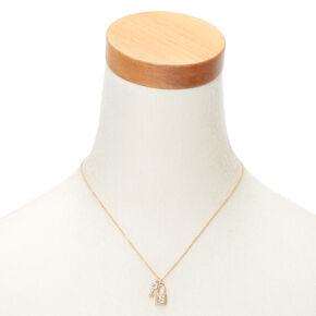 Collier d'humeur à pendentif serrure et clé couleur doré avec initiale - S,