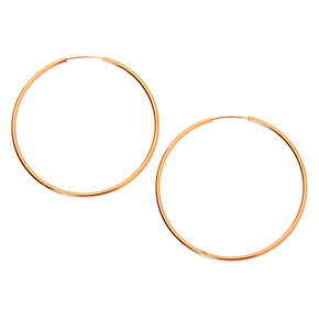 18kt Rose Gold Plated 30MM Sleek Hoop Earrings,