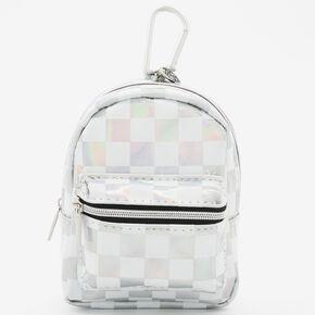 Porte-clés mini sac à dos à carreaux Sky Brown™ - Holographique,