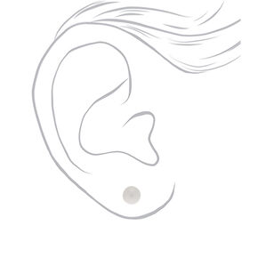 8MM Iridescent Pearl Stud Earrings,