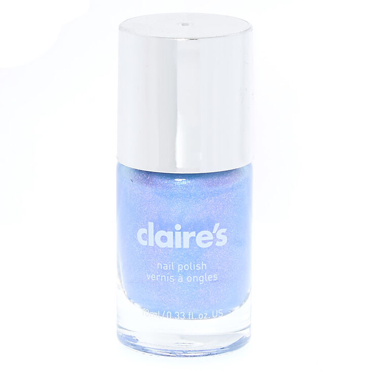 Nail Polish - Light Blue Shimmer | Claire\'s