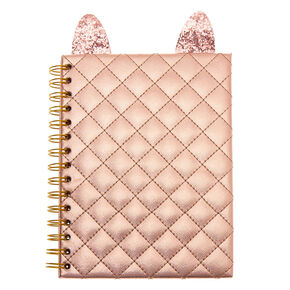 Cat Metallic Notebook - Rose Gold,