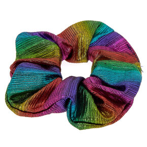 Medium Metallic Rainbow Hair Scrunchie,