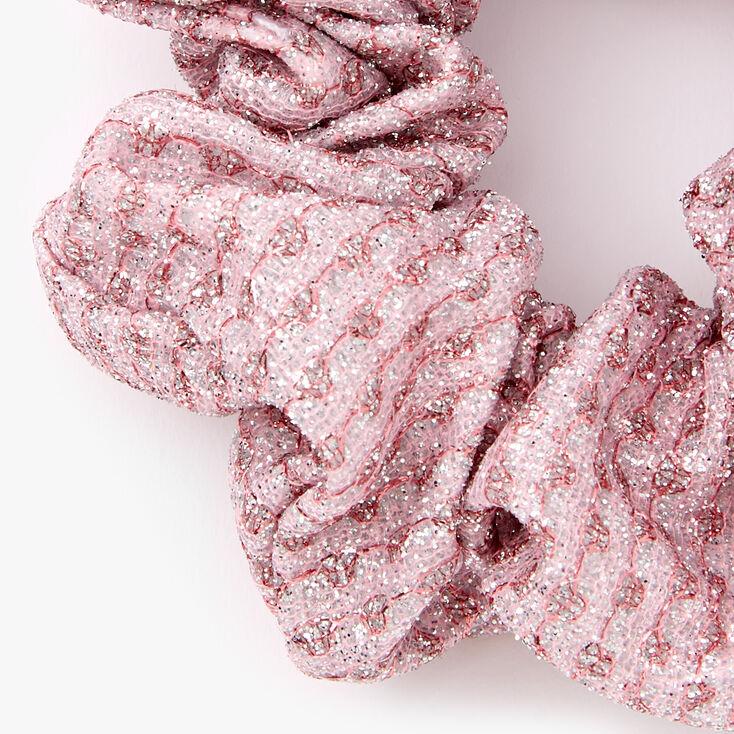 Medium Lurex Hair Scrunchie - Pink,