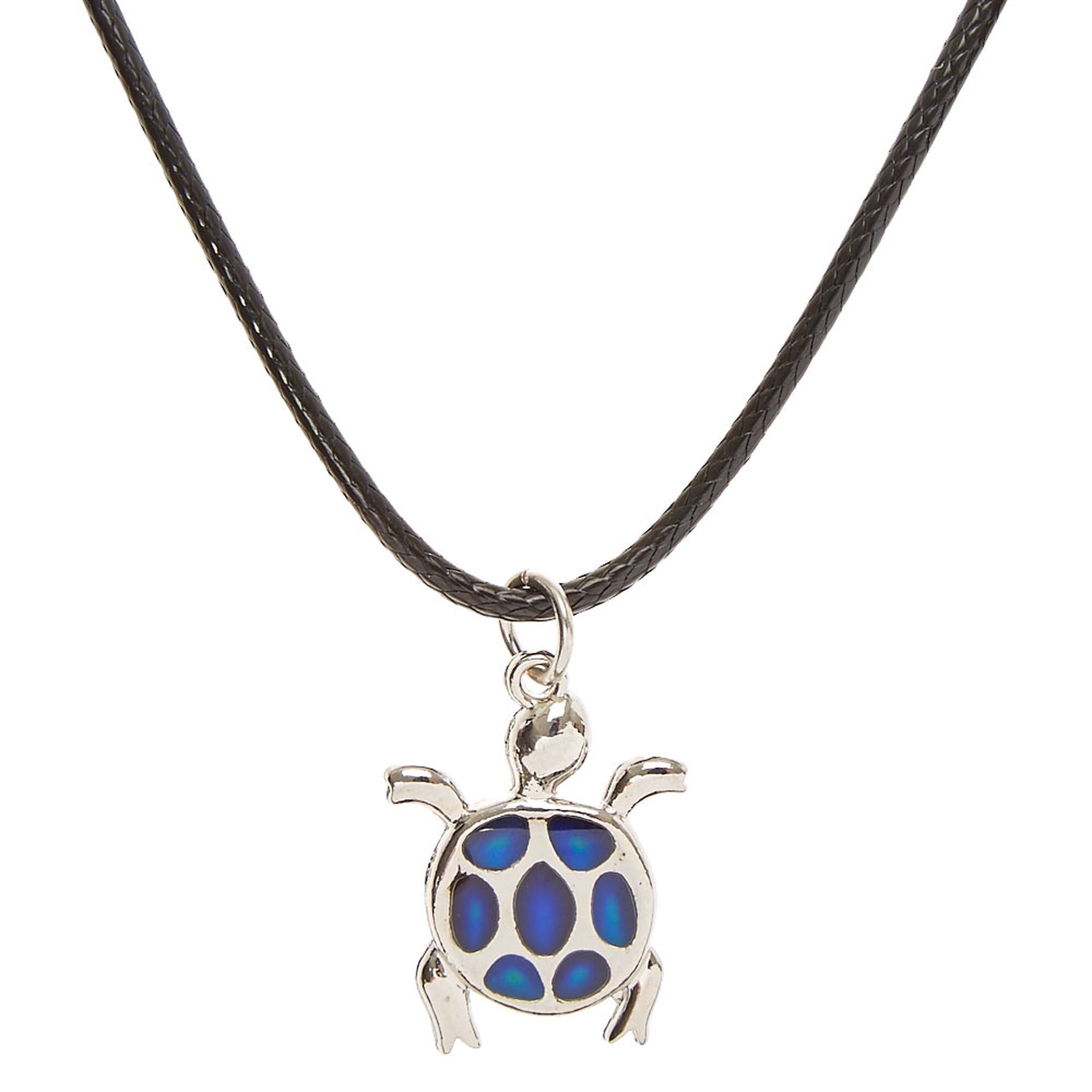 multi product turtle tone pendant silver short color necklace vintage chain enamel